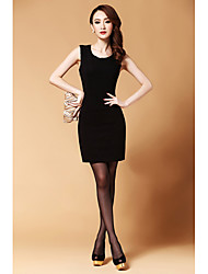 Vestido ajustado sin mangas de la moda de punto de las mujeres dlbn