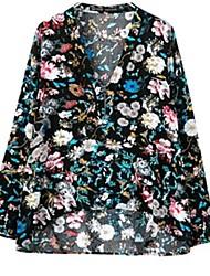 Women's Multi-color Blouse/Shirt Long Sleeve