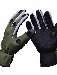 Trulinoya Waterproof Anti-Slip Breathable Fishing Gloves Army Green Color