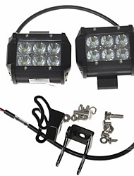 "KAWELL 2 Pack 18W 4"" CREE LED for ATV/boat/suv/truck/car/atvs light Off Road Waterproof Led Spot Work Light."