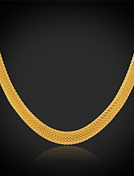 U7® Chunky Chain Necklace 18K Real Gold Plated Stainless Steel Choker Necklace Fashion Jewelry