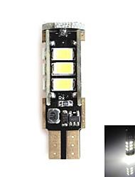 hj T10 5W 450lm 5500-6000K 15x2835 SMD LED branco lâmpada de luz de freio de estacionamento (12-24V, 1 peça)