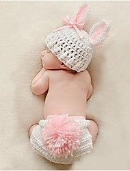 1 pcs baby' Photography Props Infant rabbit girl Crochet Knit Beanie Animal Design Baby Costume 0-2 month