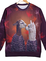 Men's Cotton Long Sleeve 3D Animal Printed Autumn Sport Sweatshirts