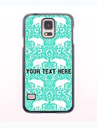 personalisierte Telefon-Fall - Elefantentwurf Metallgehäuse für Samsung-Galaxie s5 Mini