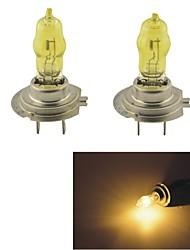 Carking ™ HOD H7 100W 2800K ultra lumineux Lampes de voiture jaune clair (DC 12V/Pair)