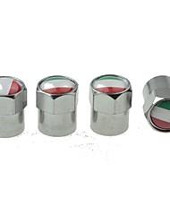 pneu de voiture de luxe drapeau national vannes de cuivre bouchon de décoration (Italie 4 pièces par paquet)
