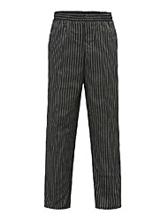 Black Stripes Elastics Chef Pants