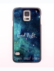 Personalized Phone Case - Good Night Design Metal Case for Samsung Galaxy S5 mini