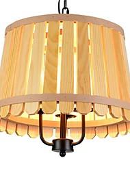 luzes de pingente, madeira, rústico, 3light, personalidade