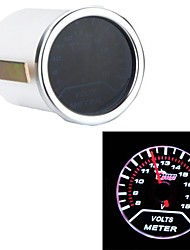 "2"" 52mm 0-18V Motor Car Voltage Gauge Universal Smoke Lens Indicator White Auto Voltemter"