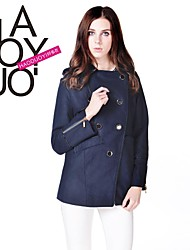 haoduoyi® Frauen nehmen tiefblauen Umlegekragen Langarm Mantel