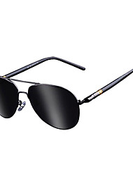 Polarized Men's Aviator Stainless Steel Retro Sunglasses