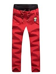 calças logotipo bordado dos esportes dos homens