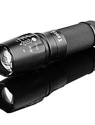 tanlu 878 recarregável de 5 modos 1x cree l2 zoom lanterna led (800-1000lm, 1x26650, preto)