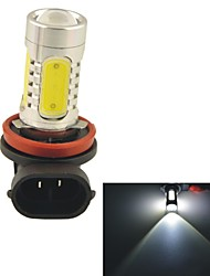 Carking™ Auto H11 11W 5SMD LED Lens Headlamp Foglight Bulb-White(12V 1PC)