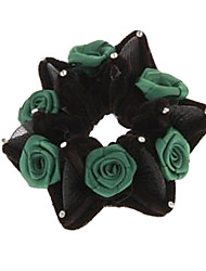 Fashion Multicolor Fabrics Hair Tie For Women(Green,Black And Blue)