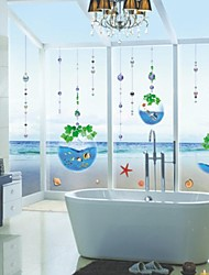 Wall Stickers Wall Decals, Fantastic Sea World in Water Drop PVC Wall Stickers