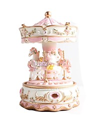 Creative Gift Present Princess Love Girl Music Box Musical Box Resin Carrousel Design