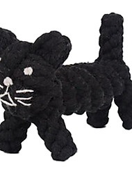 Cat Shape Rope Textile Chew Toys For Dog
