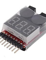 neewer® 2 em 1 rc verificador testador de bateria 8s lipo baixa tensão campainha de alarme levou indicador