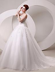 Ball Gown Sweetheart Chapel Train/Floor-length Wedding Dress