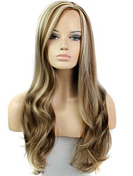28 Inch Long Wave Female Heat Resistant Fiber Synthetic Wig