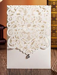Cartões de convite ( Branco ) - Embrulhado e de Bolso