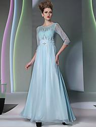 Sheath/Column Jewel Floor-length Evening Dress