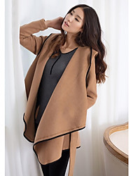 UOAR Autumn and winter high-end major suit dress belt slim irregular wool coat jacket
