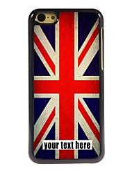 caixa personalizada caso design de metal union jack para iphone 5c
