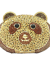 Women's Panda Design Rhinestone Wedding Hand Clutches