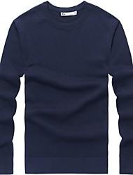 Männer aus 100% Baumwolle Rundhals Pullover Pullunder
