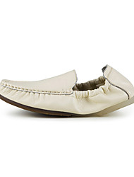 Men's Shoes Casual Leather Loafers Brown/White/Navy