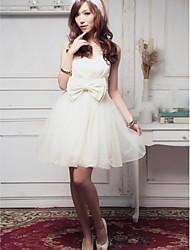 Ankle-length Satin Bridesmaid Dress - Blushing Pink / Fuchsia / Lilac / White / Black Ball Gown Sweetheart