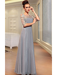 Sheath/Column Scoop Floor-length Evening Dress
