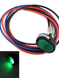 jtron diy vippströmbrytare på / av ledde med grönt ljus - svart + grön (12v / 30a)