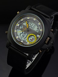 Men's Sports Watch Waterproof Multifunctional Analog-Digital Leather Band Wrist Watch (Assorted Colors)