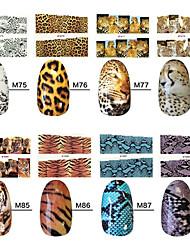 10PCS Leopard Style Nail Art Stickers M Series N0.75-88(Assorted Pattern)