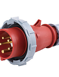 HENNEPPS HN1114 Waterproof Industrial Connector Male Industrial Plug CE 400V 50A 3P+N+E IP44 6H 10-16mm²