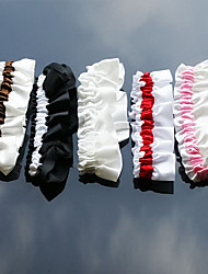 Garter Satin White / Black / Red / Pink / Gray