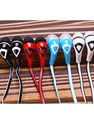mc-858 bonbons de style nouilles double-couleur dans l'oreille headphoness pour iPhone et autres (couleurs assorties)
