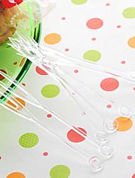 transparente Einweg-Kunststoff-Obst Gabeln, zufällige Farbe, 4000pcs / set