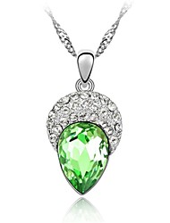 Collier ( Alliage , Pourpre/Bleu/Vert/Rose ) Cristal/Strass