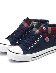 DONNE - Sneakers alla moda - Comfort/Punta tonda - Tacco basso Tela - Nero/Blu/Rosso