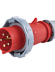HENNEPPS HN288 Waterproof Industrial Connector Male Industrial Plug CE 400V 50A 3P+N+E IP44 6H 1.5-2.5mm²