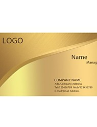 Personalized Business Cards 200 PCS Classic Golden Yellow Pattern 2 Sided Printing of Fine Art Filmed Paper