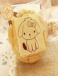 50pcs Cute Dog Cookie Bakery Candy Biscuit Jewelry Gift Plastic Packaging Bag Baby Shower Birthday Decorations