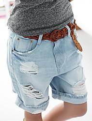 furos de sagetech®women denim calças curtas