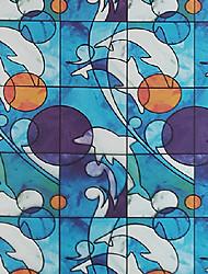 filmes de animação janela do banheiro adesivos fosco janela opaca golfinhos papel translúcido